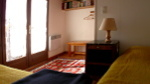 Bedroom A, two single beds, South